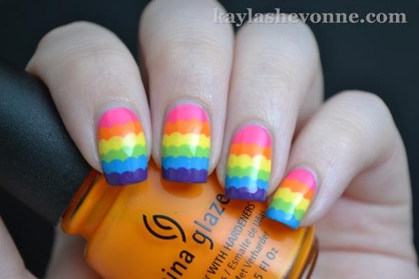 Nails By Kayla Shevonne Rainbow Ruffle Nail Art