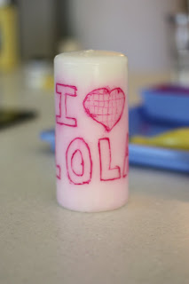 IMG 2908 Mothers Day Gift Idea #2: Personalized Candle