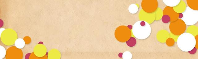 free colourful circles blog header