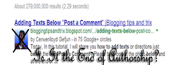 google drops authorship in SERP