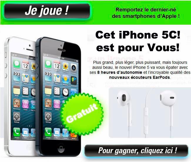 gagner un iphone 5c gratuitement