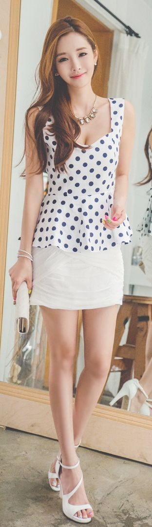 Perfect Polka dot & skirt  #love_it
