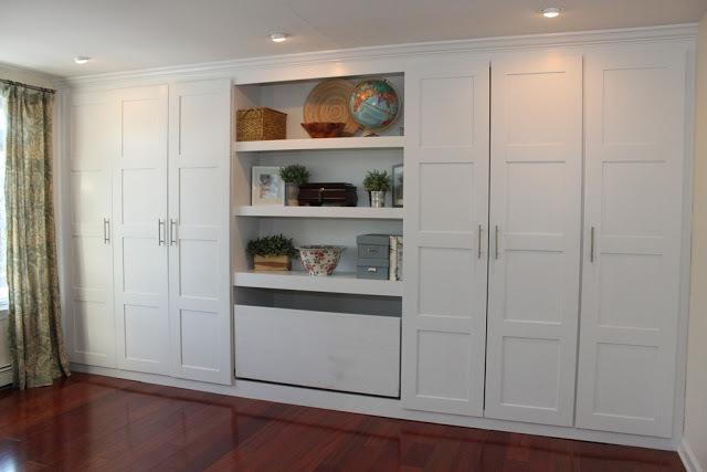 Idees De Belle Cuisine Moderne : , customiser des étagères banales (ici modèles billy et pacx de