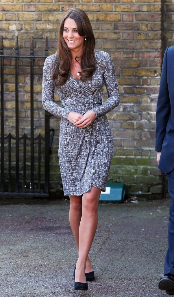Kate Middleton Shows Off Baby Bump In A Maxmara Dress In