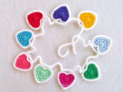 Crochet Heart Bunting 3