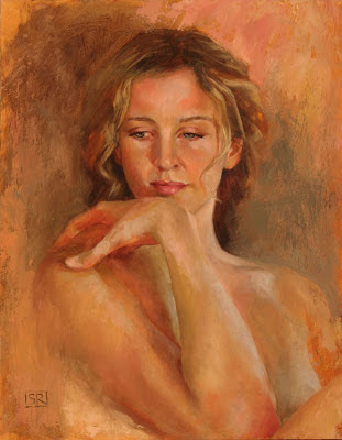 Jenna, Portrait study, oil on panel, by Shannon Reynolds