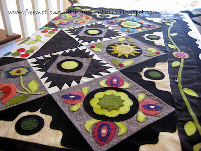 Basting before free motion quilting