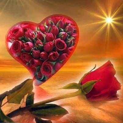 Lettre d'amour avec des fleurs 4