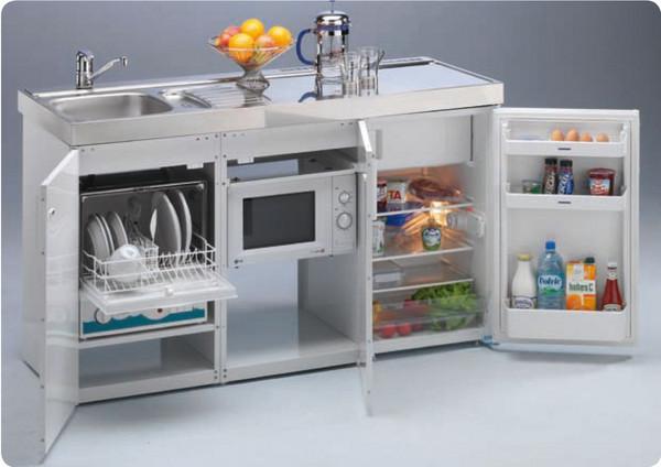 Mini cocinas compactas para peque os espacios cocinas Cocinas integrales para casas chiquitas
