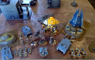40k SW+IK vs Squat - SW army shot