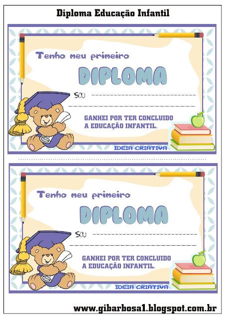 Diploma Educação Infantil