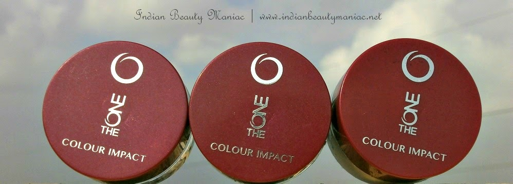 The ONE Colour Impact Cream Eye Shadows Golden Brown, Olive Green, deep indigo, cream eyeshadows in India, affordable eyeshadows, oriflame in india, indian beauty blogger, review