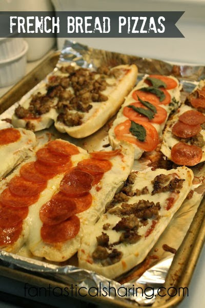 French Bread Pizzas | Easy to make & plenty of variations to make everyone happy!