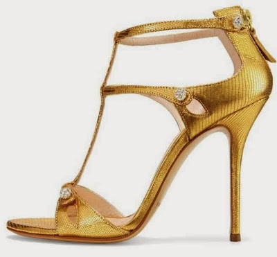 Casadei gold sandal heels