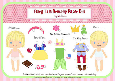 Fairy Tale Dress-Up Paper Doll