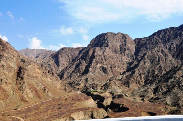 The mountaneous sight of Dibba, Fujairah