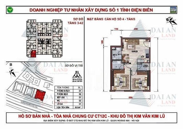 Căn 04 - Chung Cư Kim Văn Kim Lũ CT12C