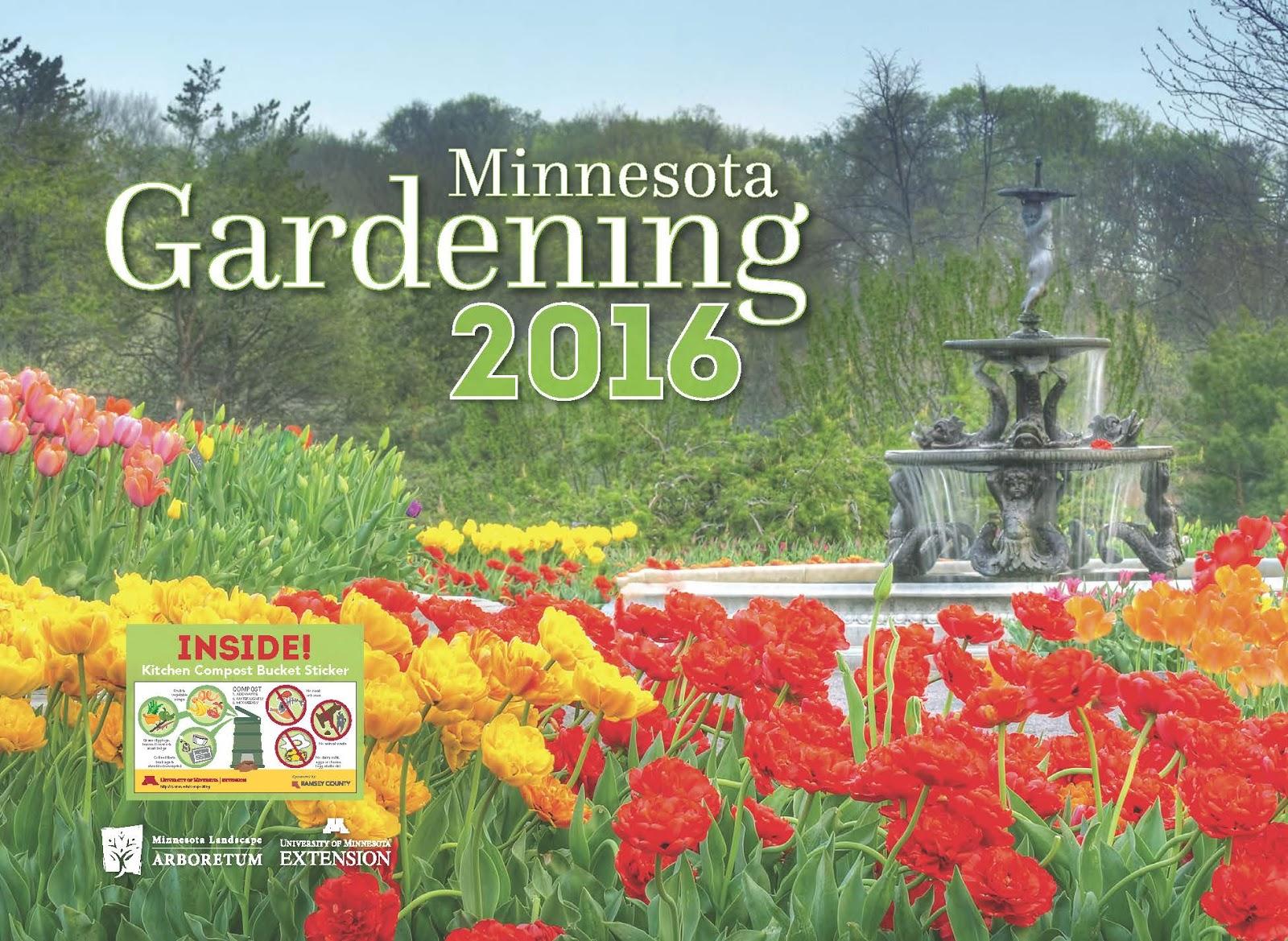 Order the 2016 minnesota gardening calendar for a favorite for Gardening 2016 calendar