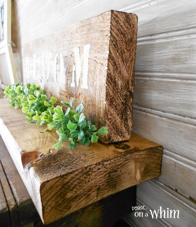 Scrap Wood Table Decoration from Denise on a Whim