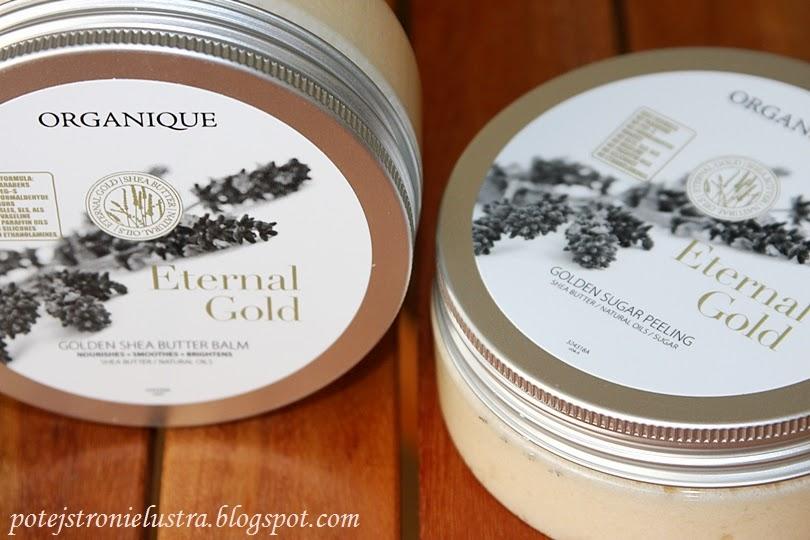 Organique Eternal Gold - Złoty balsam z masłem shea oraz złoty peeling cukrowy