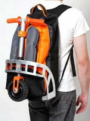 objetos de diseño, scooter plegable, patinete plegable