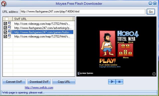 swf downloader screenshot