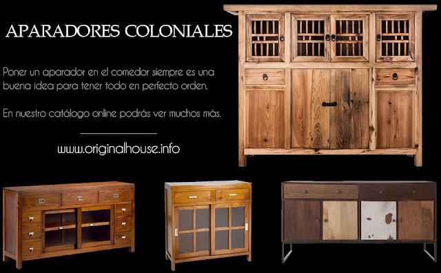 El blog de original house muebles y decoraci n de estilo - Muebles coloniales madrid ...