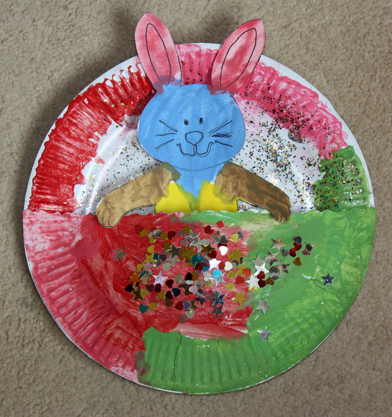 Craft and activities for all ages easter bunny paper for Easy paper plate crafts