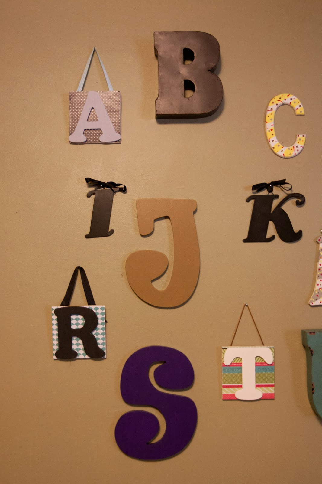 Did you hear about the morgans alphabet wall nursery decor for Alphabet wall decoration