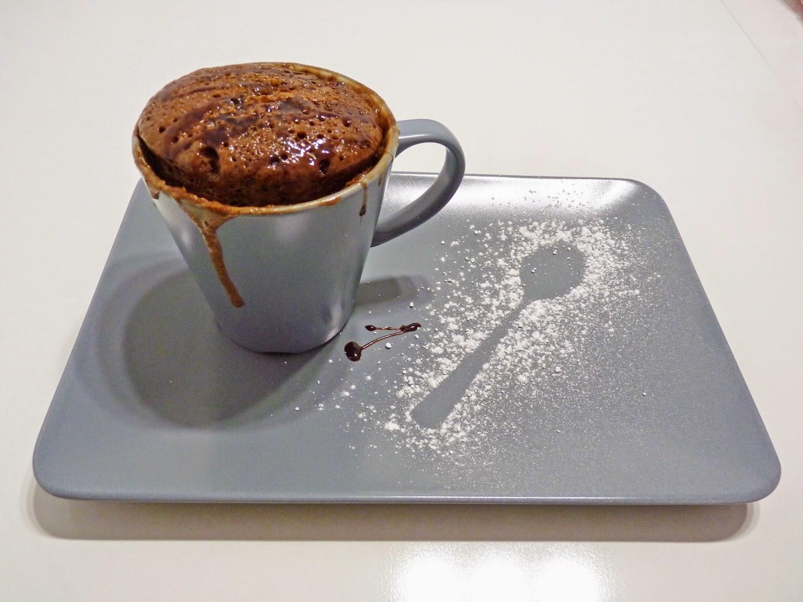 Mug cake de ColaCao & Nutellao bizcocho en taza