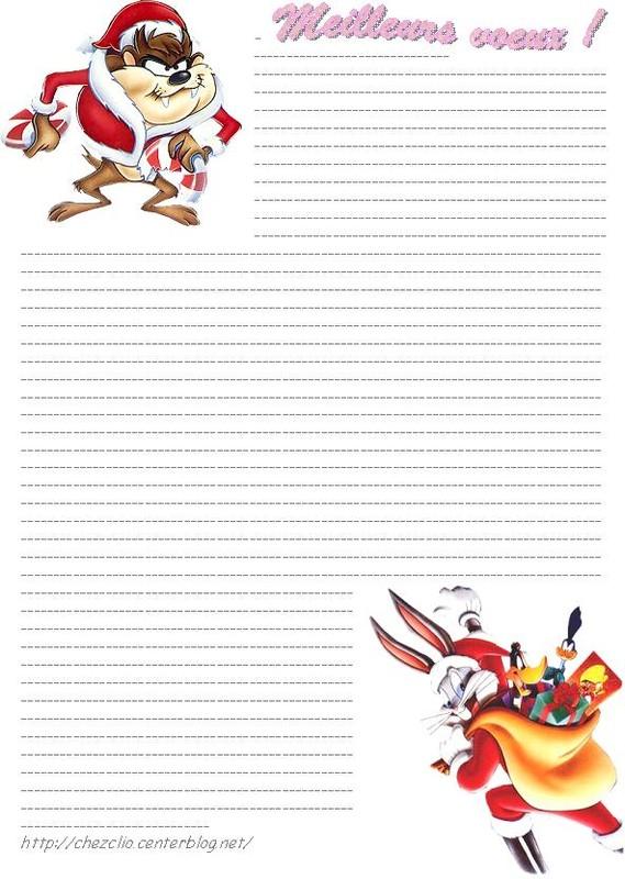 Top du meilleur papier a lettre pour le pere noel imprimer gratuit - Lettre disney ...