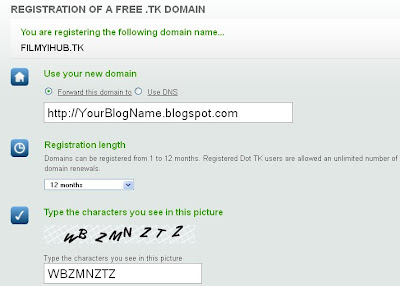 Dot tk sign up