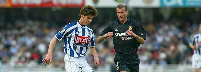 Xabi Alonso Zidane Real Sociedad Real Madrid imágenes