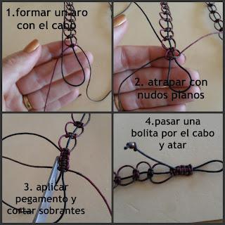 como hacer un collar de nudo celta paso a paso