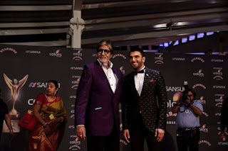 Ranveer and Amitabh Bachhan at Colors Stardust award