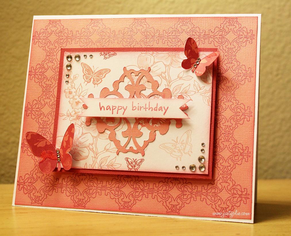 amy chomas birthday card with chomas creations mini gel pen holder, Birthday card