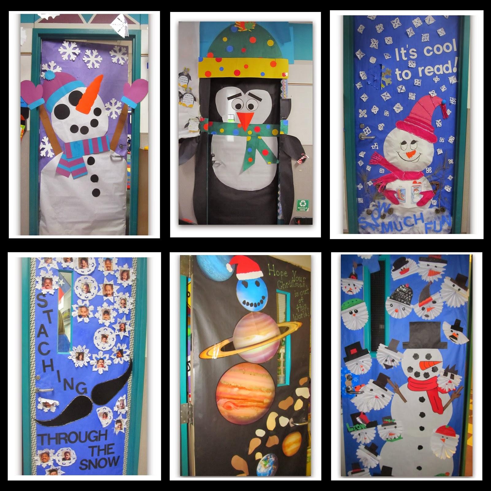 Winter Season Classroom Decorations ~ Rainbowswithinreach winter themed decorated classroom doors