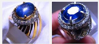 Cincin dengan Batu Safir