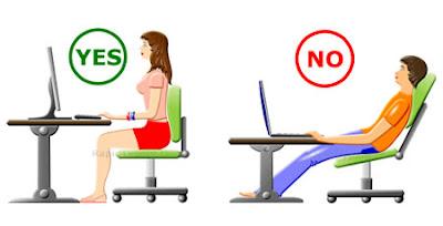 Malas postura frente a la computadora