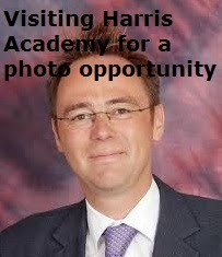 Alasdair Allan MSP visiting Harris Academy for a photo opportunity