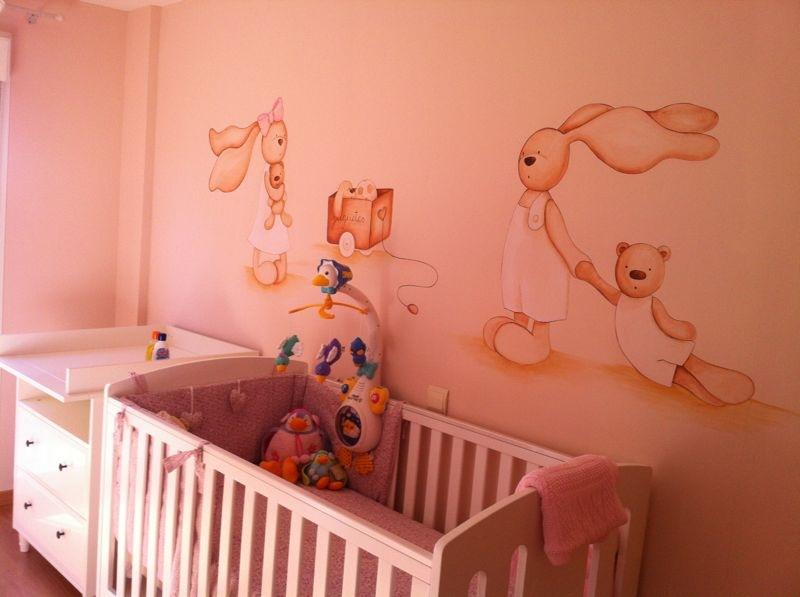 Decopared murales infantiles de conejitos y ratoncitos for Murales habitacion bebe