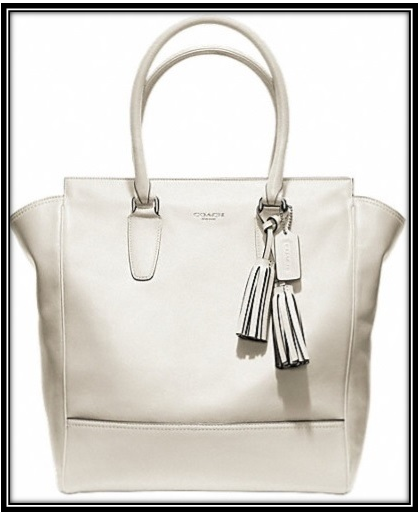 #Coach Tanner Tote #leather #silver