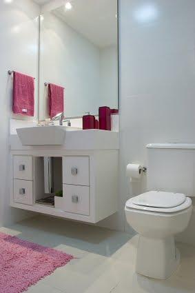 #474711 Minha caminhada rumo ao AP novinho em folha. Meu querido banheiro inspiração 283x425 px Banheiro Simples Todo Branco 2018 3801