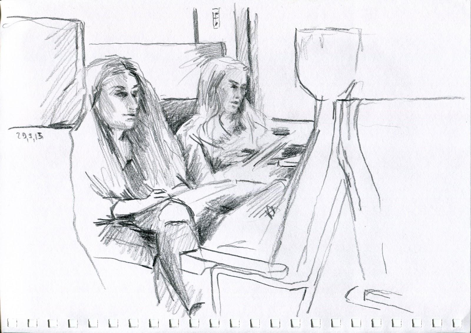 Urban Sketchers Switzerland Endlich Zeichnen Mit 18 Schülerinnen