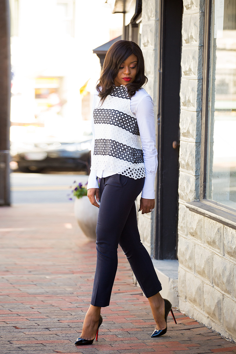 Fall work style, anthropologie top, jcrew ankle pants, jadore-fashion.com