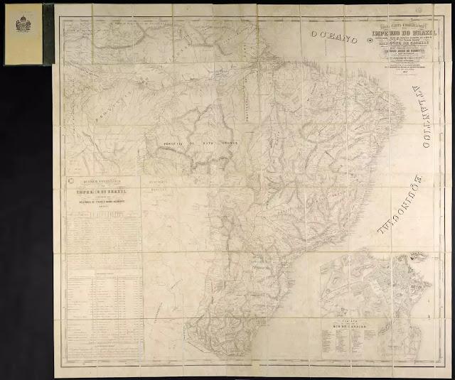 Carta corográfica do Brasil Imperial de 1857 do Museu Imperial de Petrópolis