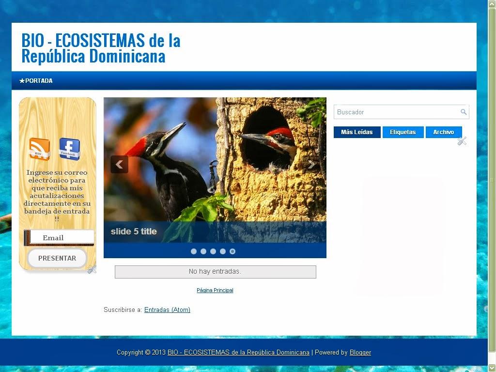 BIO-ECOSISTEMAS DE LA REPÚBLICA DOMINICANA