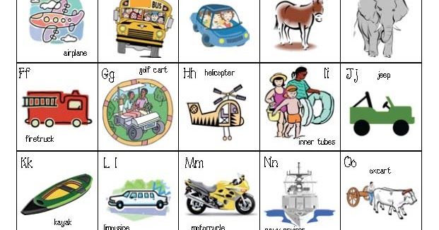 Classroom Freebies: Transportation Alphabet Poster