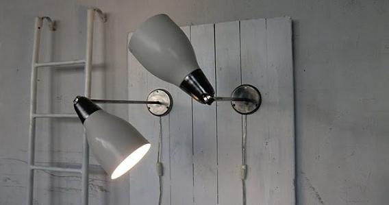 WO AND WÉ COLLECTION: Paire de lampe murale industrielle abat-jour ...