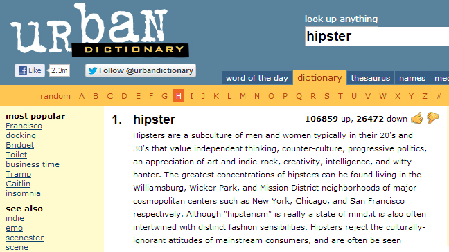 Hipsters nontroversies frankenfood and frakking selfies for Cuisine urban dictionary